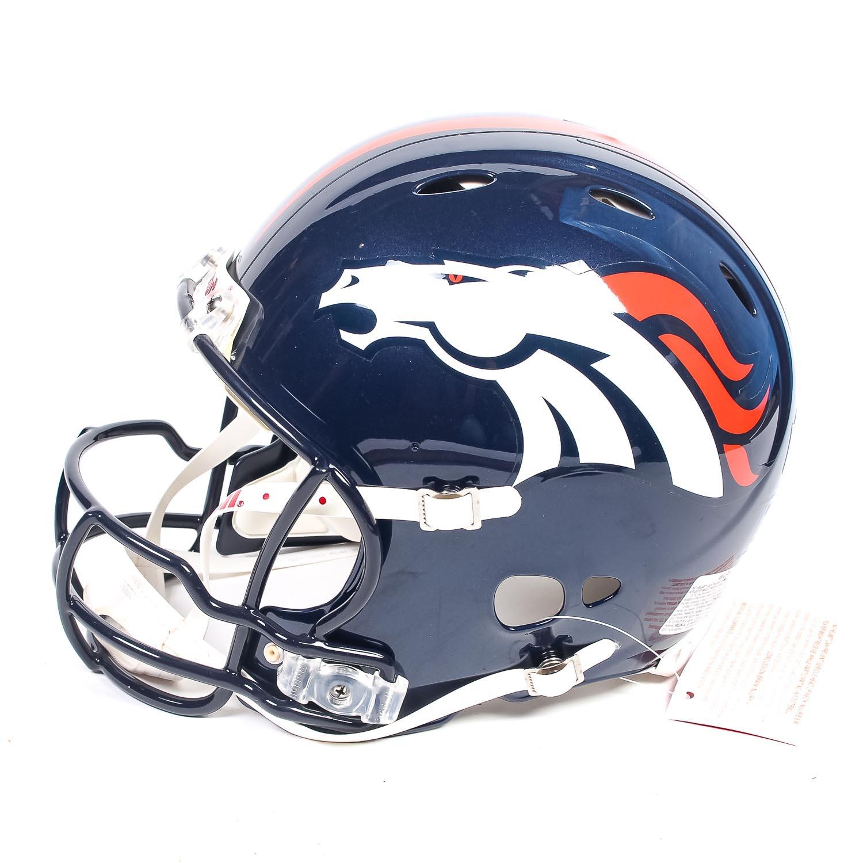 Autographed Peyton Manning Denver Broncos Football Helmet
