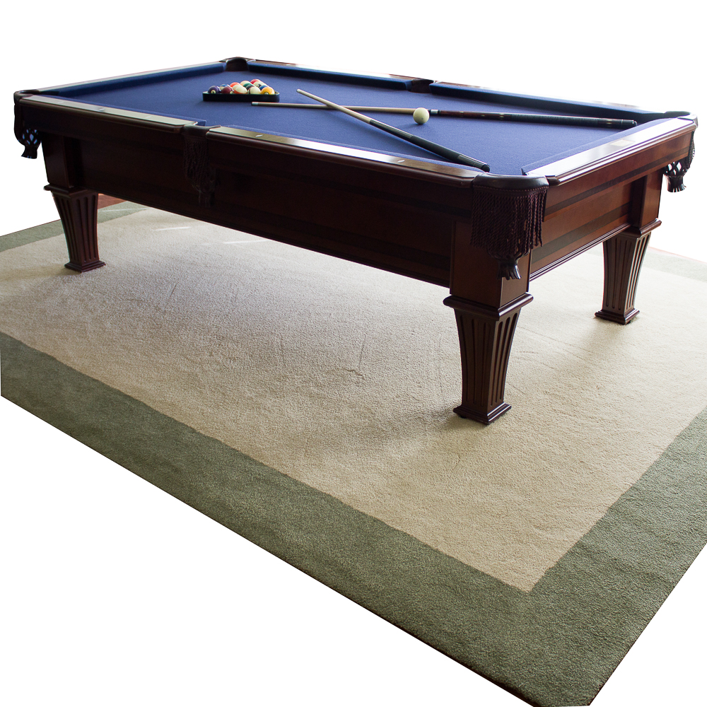 8 foot pool table legacy fischer foot pool table and custom rug ebth