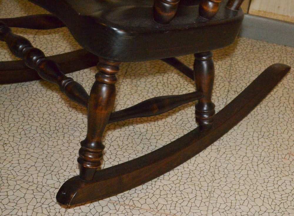 S Bent Amp Bros Colonial Style Rocking Chair Ebth