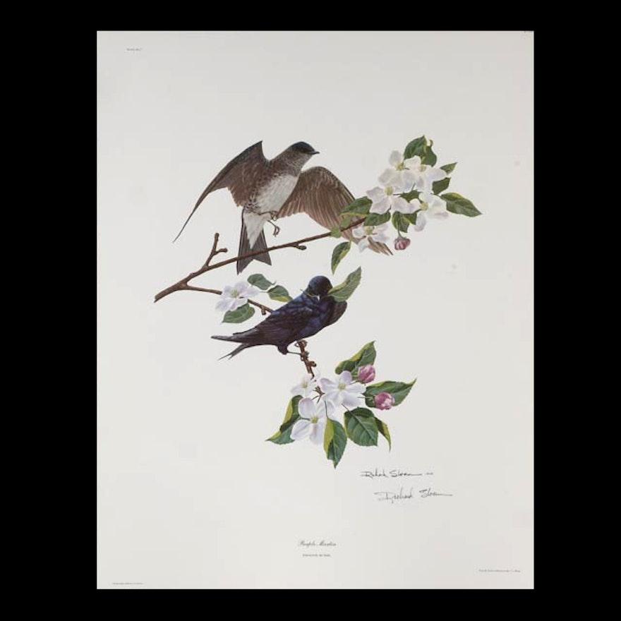 "Richard Sloan Signed Unframed Print ""Purple Martin"""