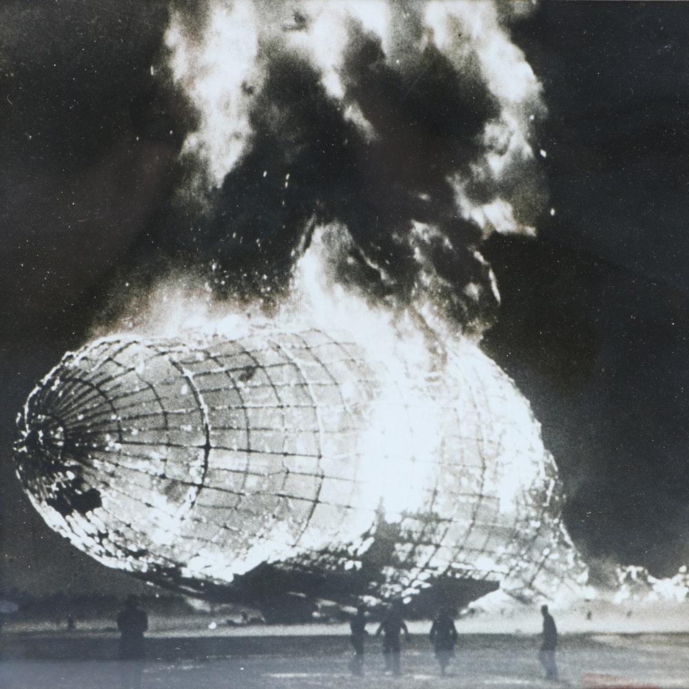 Black And White Photograph Of Hindenburg Disaster Ebth