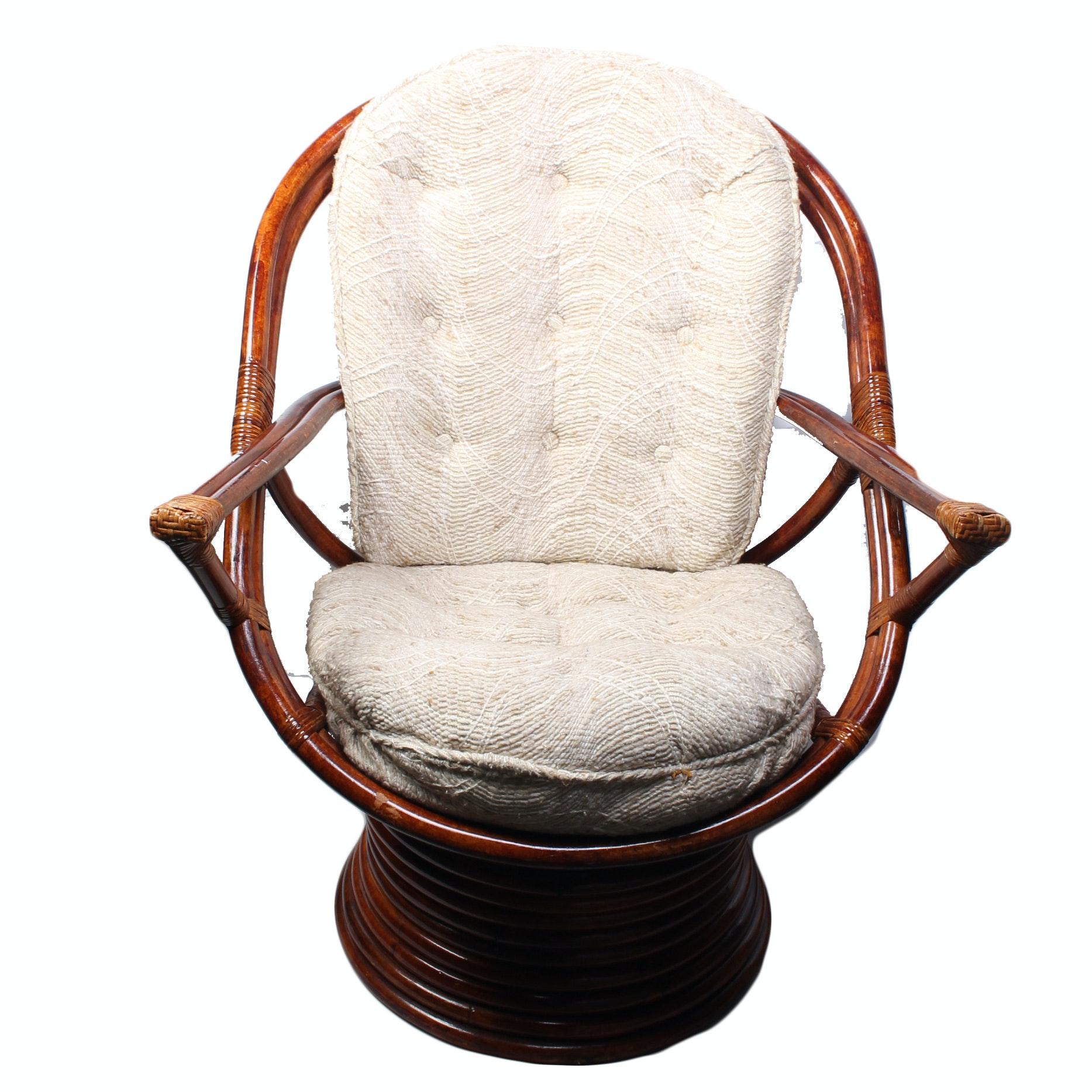 Rattan Swivel Rocker Chair EBTH