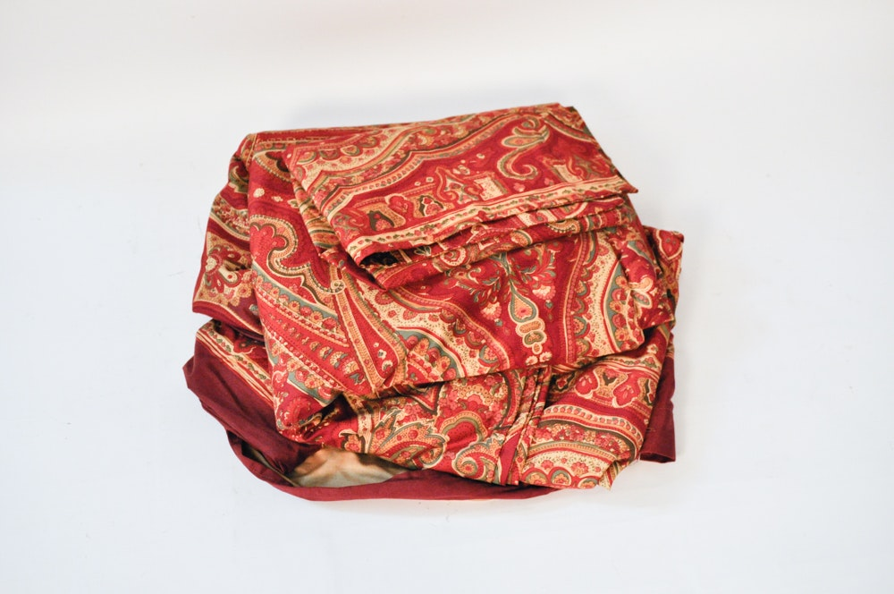 Red And Gold Bedding Including Pottery Barn Ebth