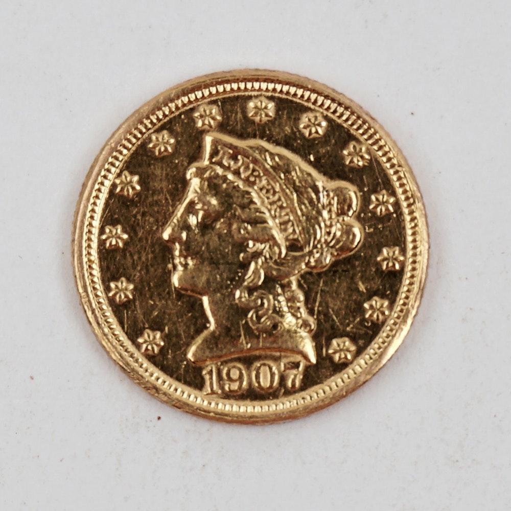1907 Liberty 2.5 Dollar Gold Coin