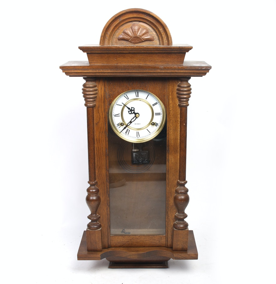 Vintage 31 day wall clock ebth vintage 31 day wall clock amipublicfo Image collections