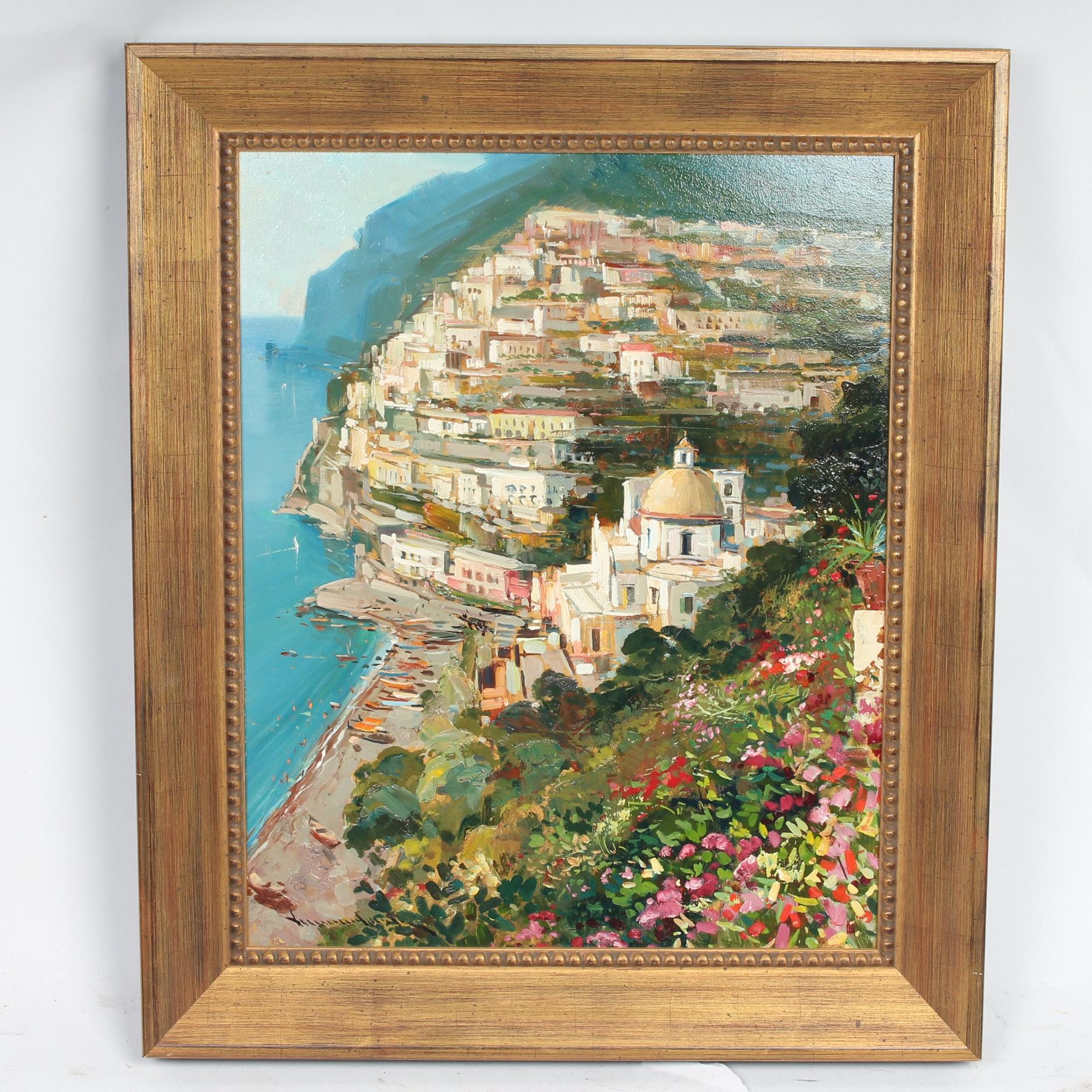 Contemporary Original Oil on Canvas of Greece