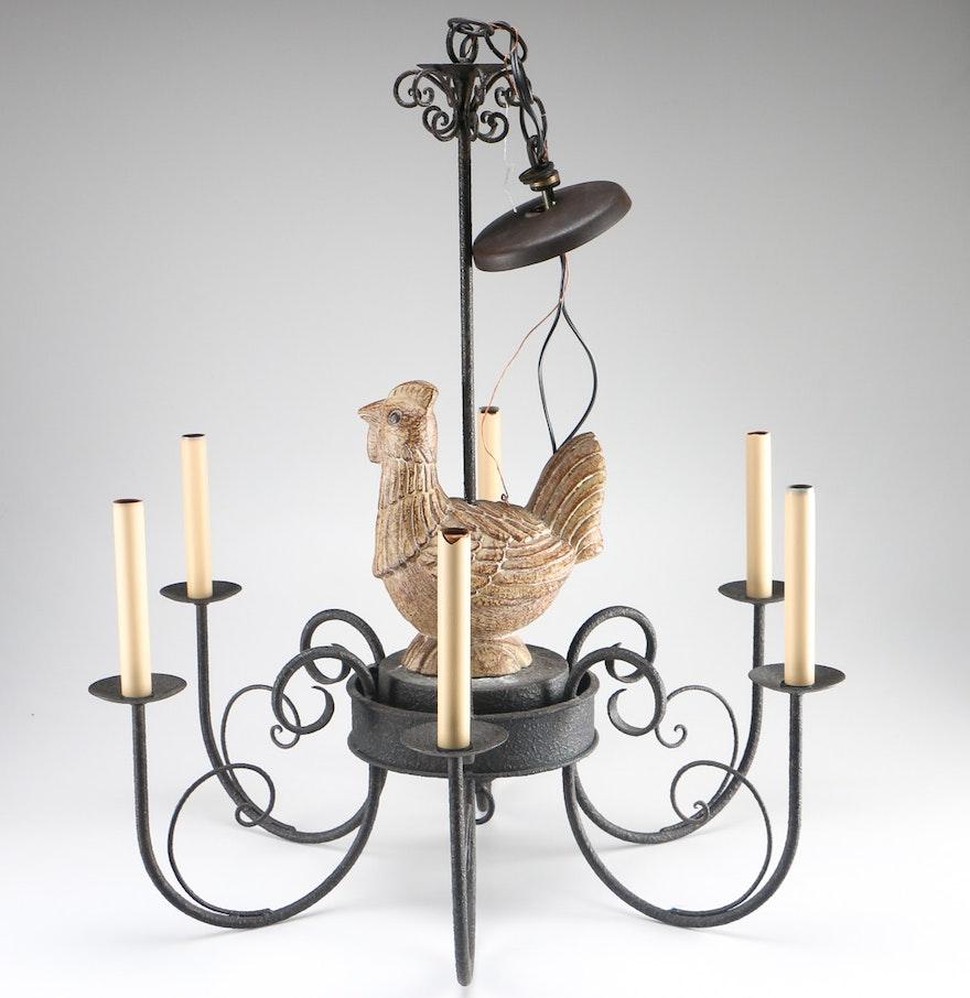 Rustic Rooster Chandelier EBTH – Rooster Chandelier