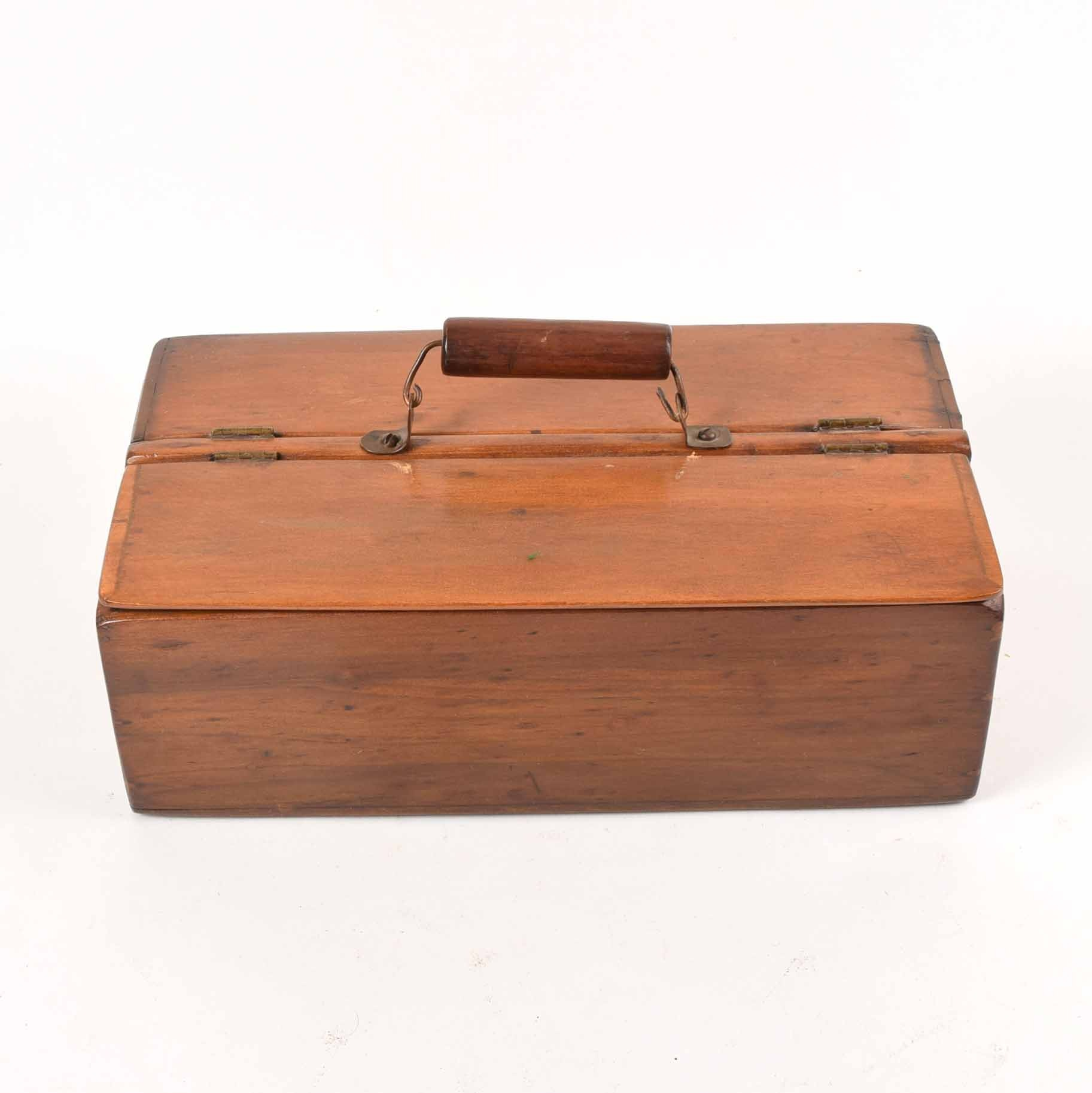 Antique Wood Lunch Box