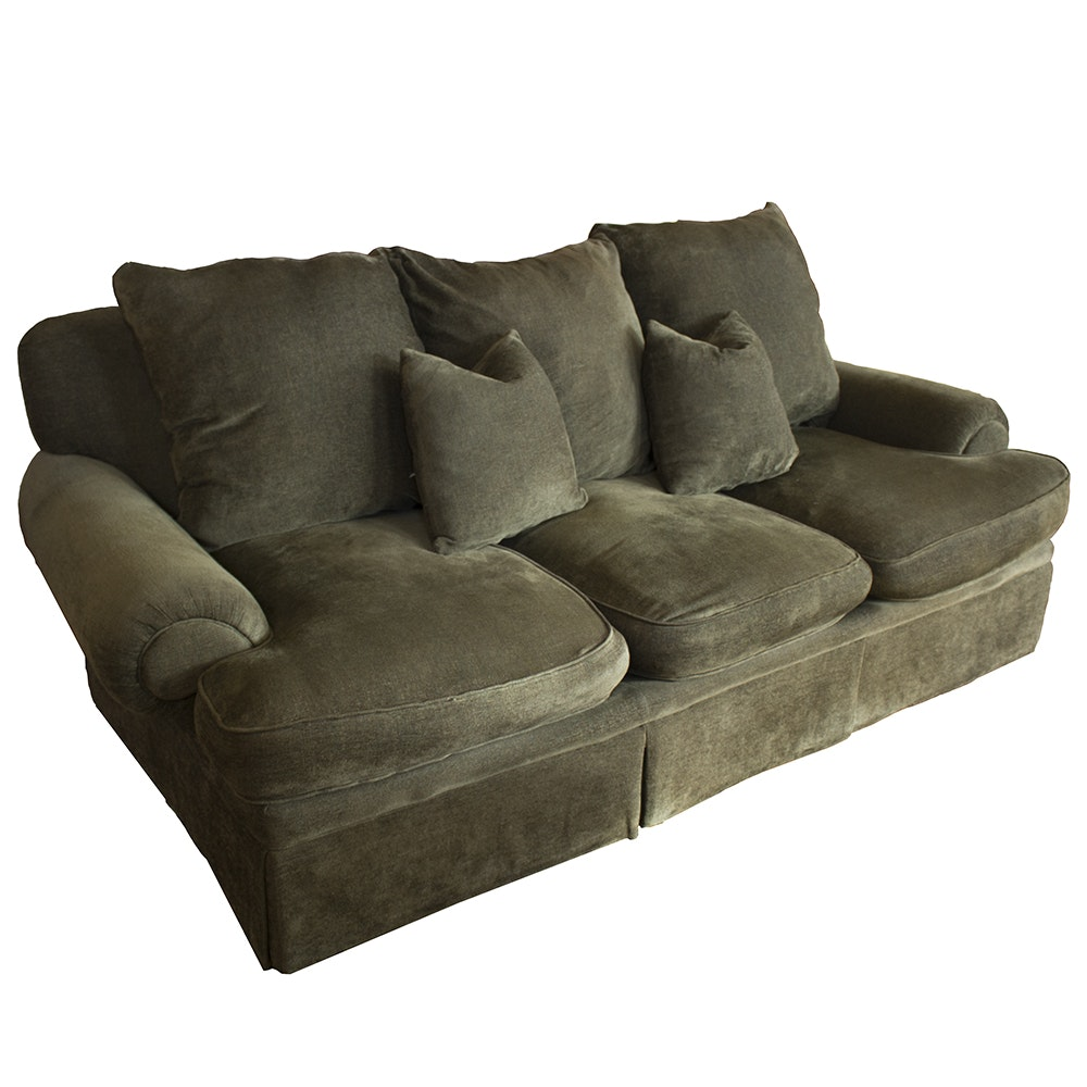 Beau Down Stuffed Custom Sherrill Furniture Sofa ...