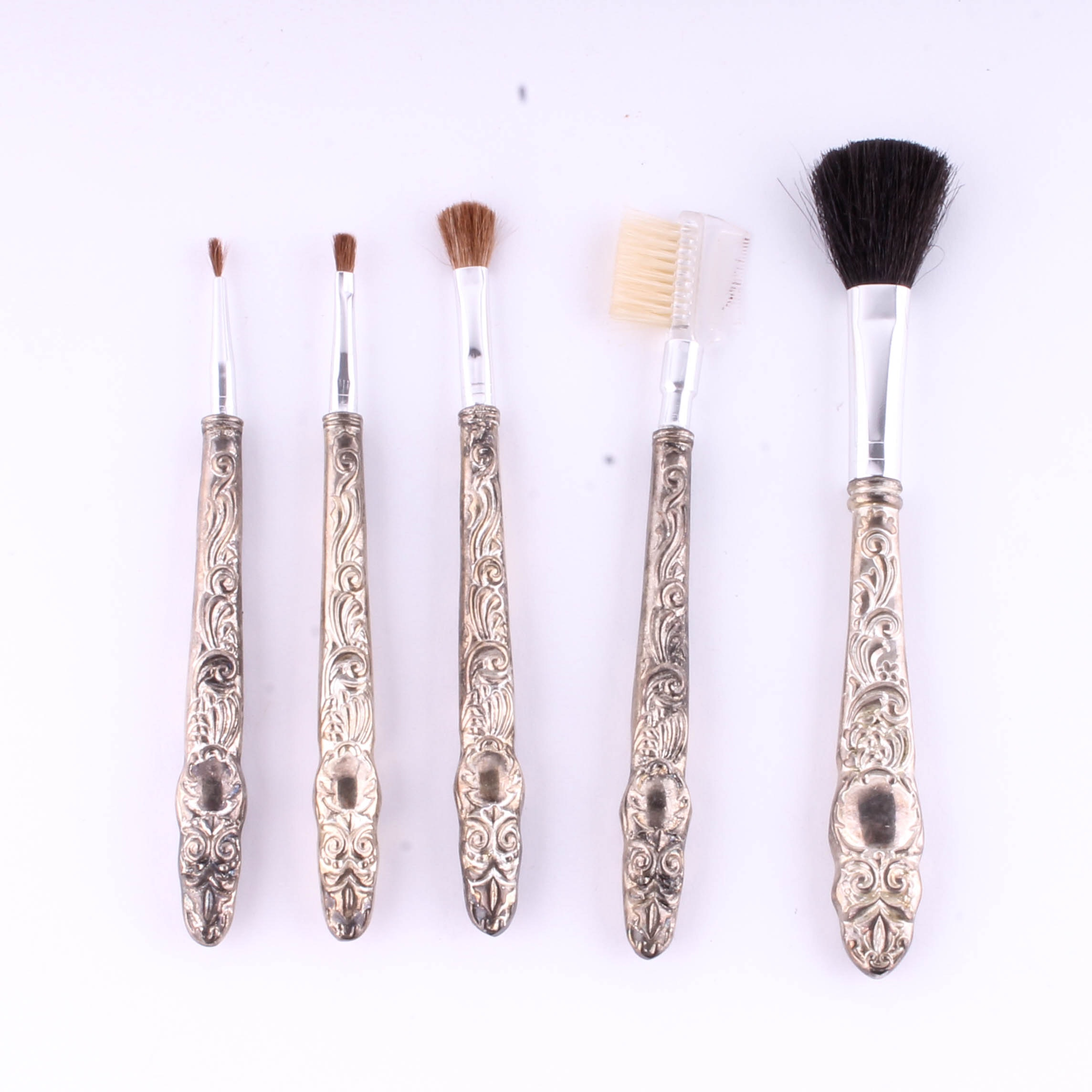 Vintage Silver Makeup Brushes Saubhaya Makeup