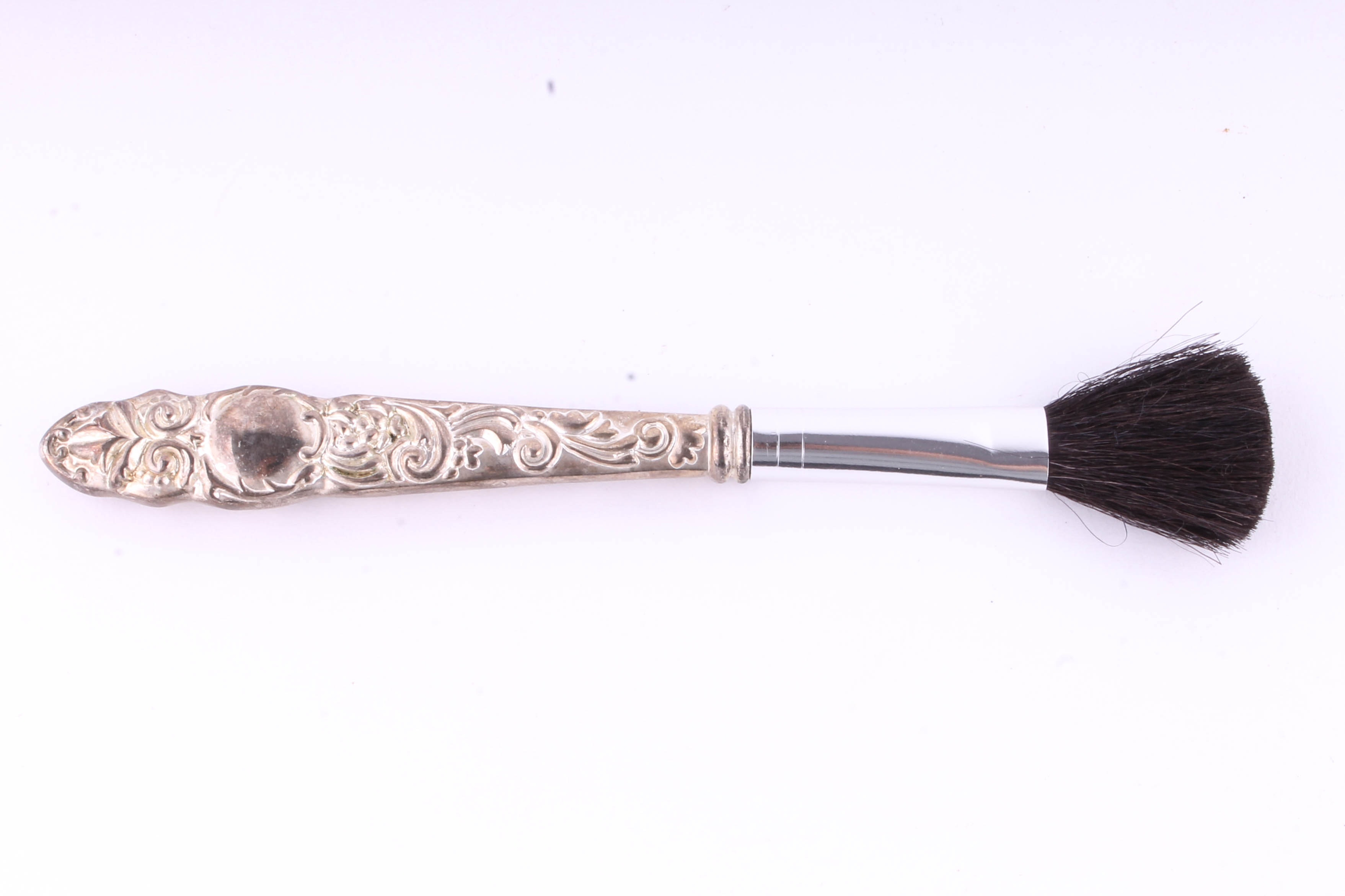 Vintage Silver Toned Makeup Brushes : EBTH