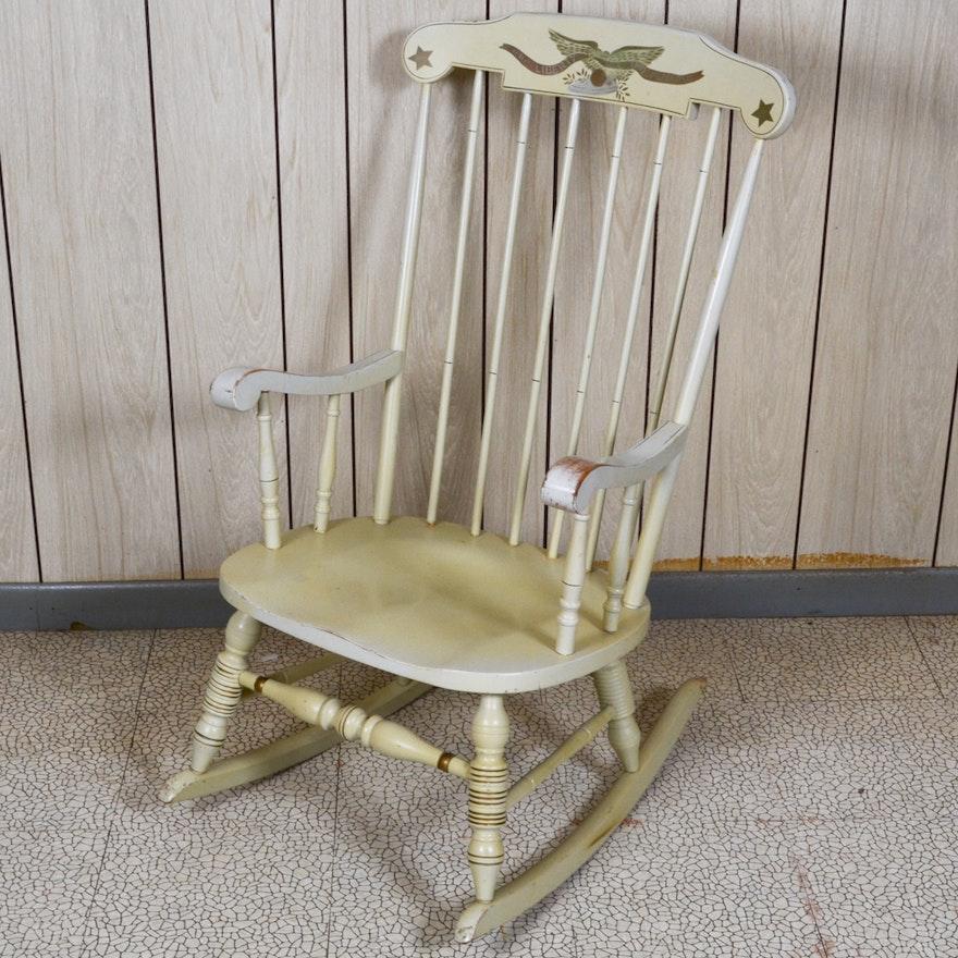 Terrific Liz Kamman Co Hand Painted Rocking Chair Interior Design Ideas Clesiryabchikinfo