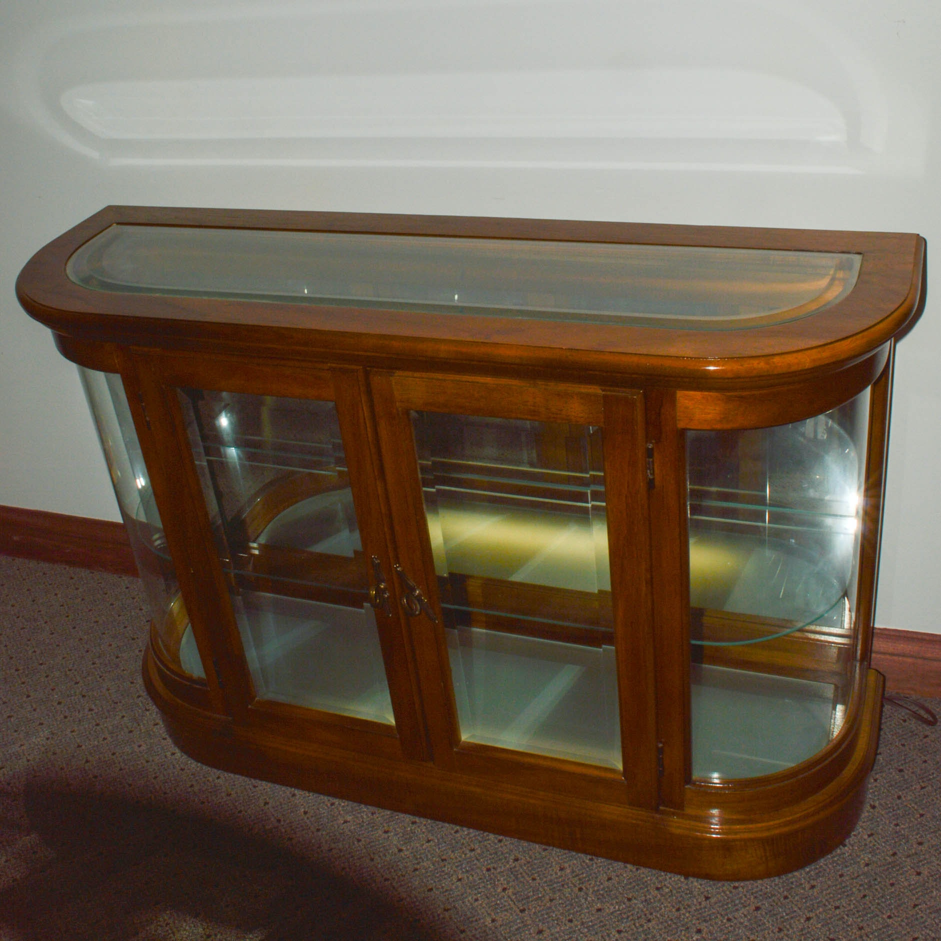 Low Glass Display Cabinet ...