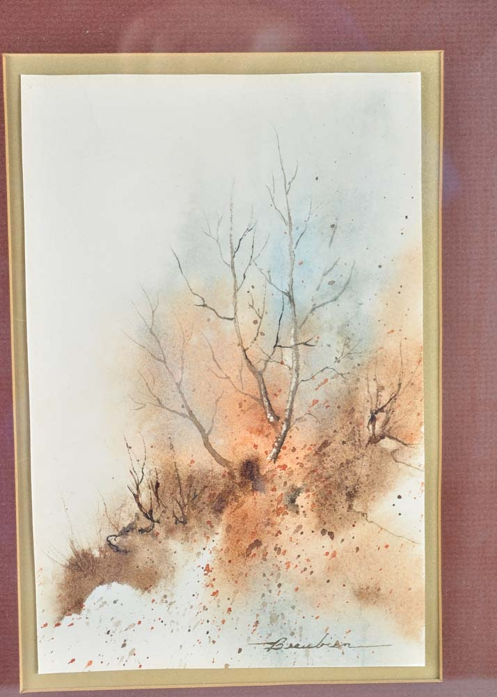 Pair Of Donna Beaubien Watercolor Paintings Ebth