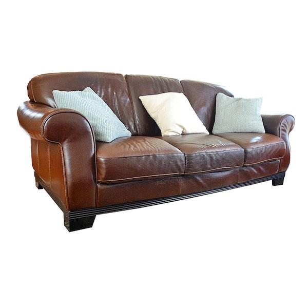 Divani Italian Leather Sofa : EBTH