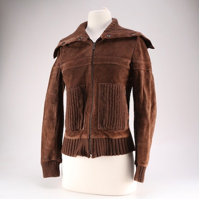 597b6027f62 C. Ronson by Charlotte Ronson Suede Jacket
