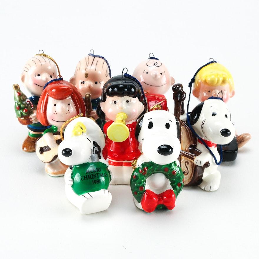 circa 1950s peanuts christmas ornaments
