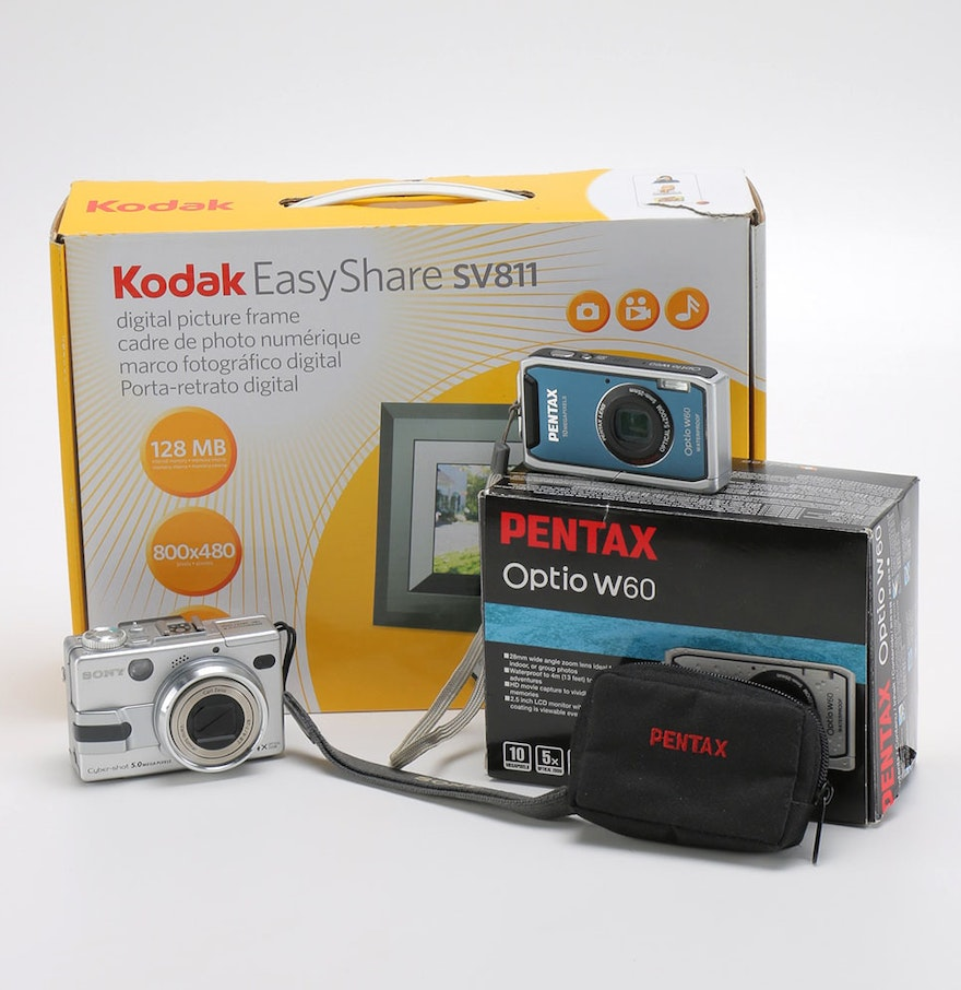 Sony and pentax cameras with kodak digital frame ebth sony and pentax cameras with kodak digital frame jeuxipadfo Image collections