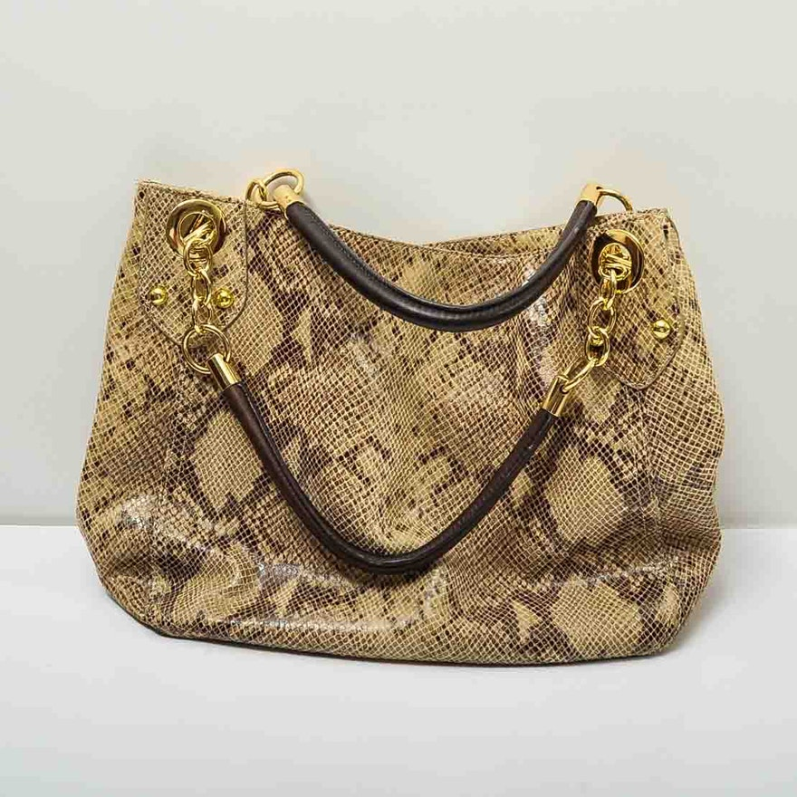 Cynthia Rowley Snakeskin Leather Handbag