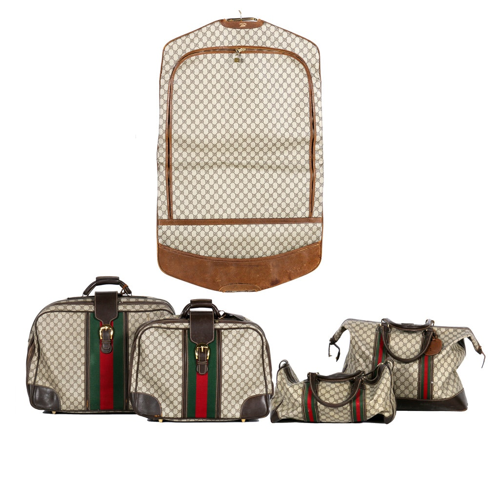 "Gucci ""Webbing"" Luggage Set"