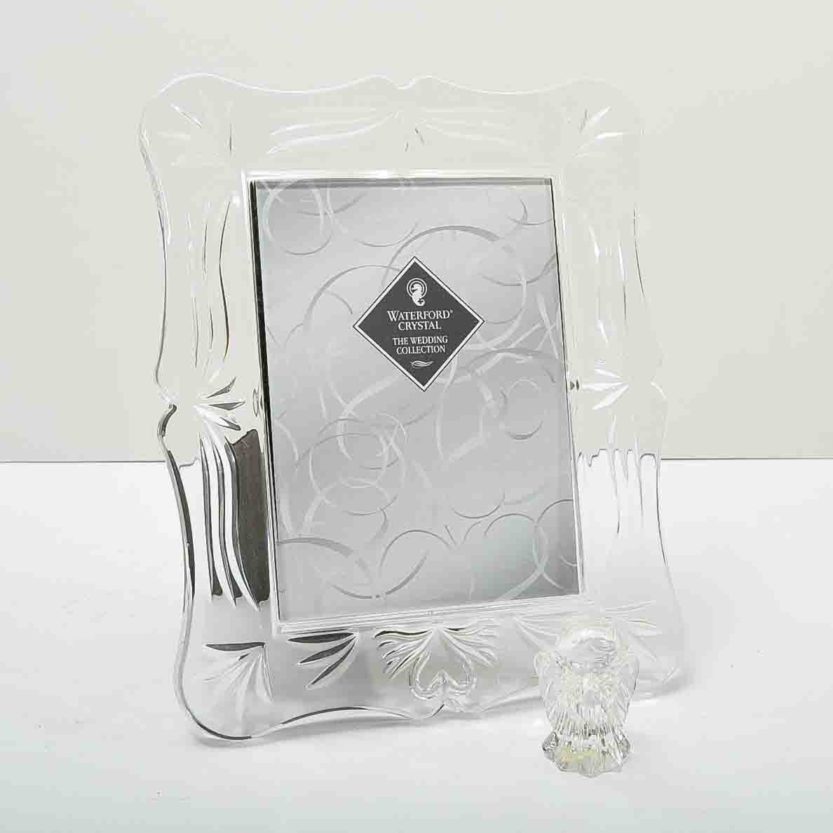 Waterford Crystal Photo Frame And Marquis Praying Angel Figurine Ebth