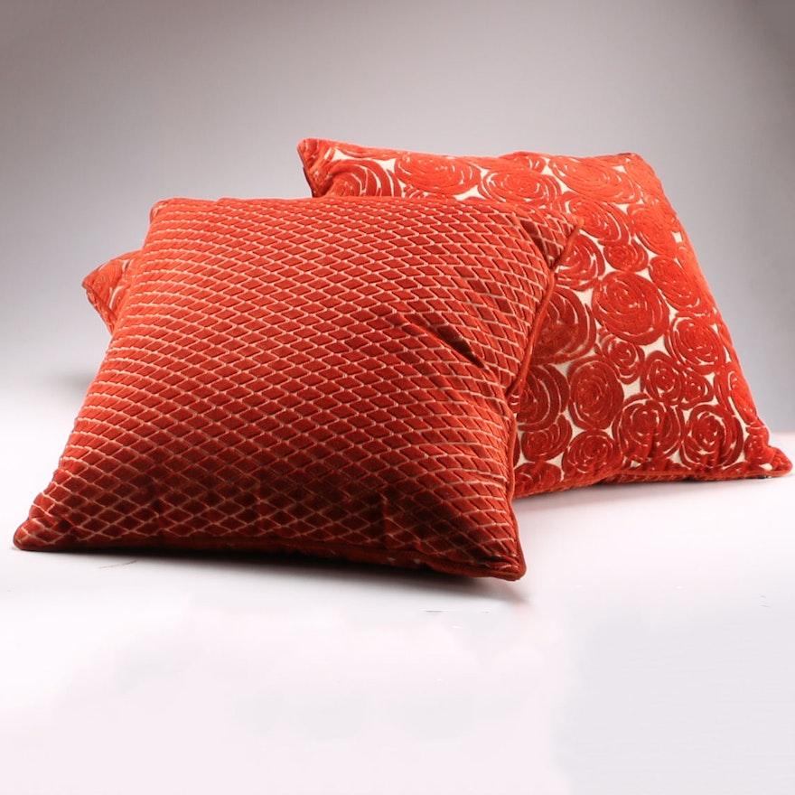 Pier 40 Burnt Orange Throw Pillows EBTH Enchanting Pier 1 Decorative Pillows
