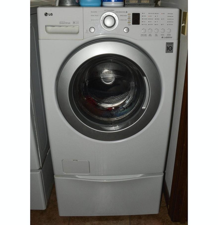 lg inverter direct drive front load washer with drawer pedestal ebth. Black Bedroom Furniture Sets. Home Design Ideas