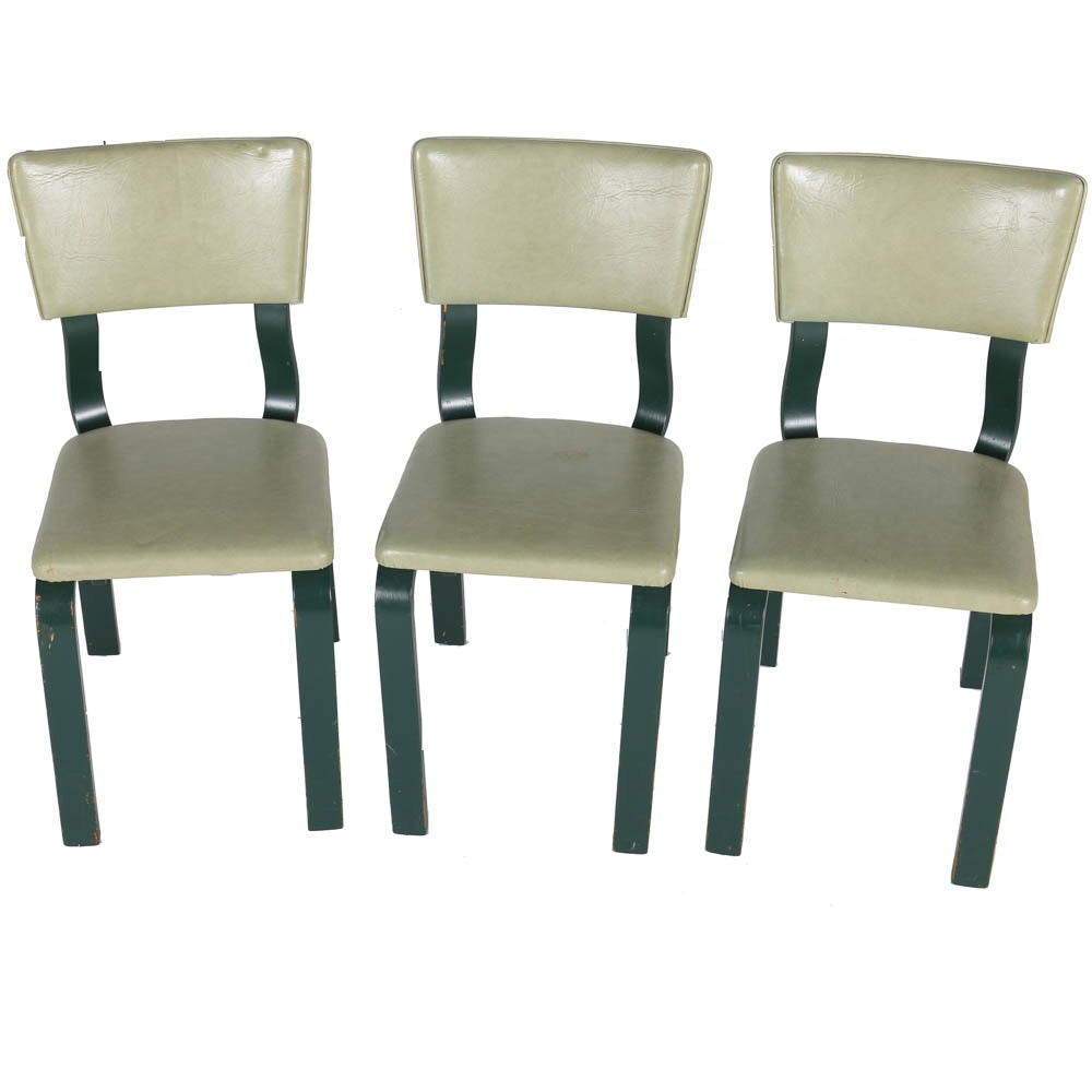 Green Thonet New York Bentwood Dining Chairs ...
