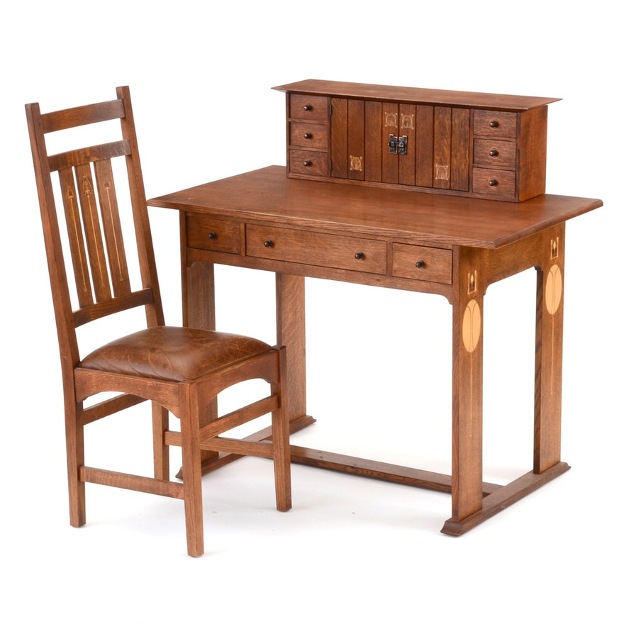 Stickley Furniture 1904 Harvey Ellis Mission Collection Desk Deck