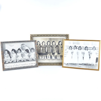 Framed Dionne Quintuplets Photographic Prints and Advertising