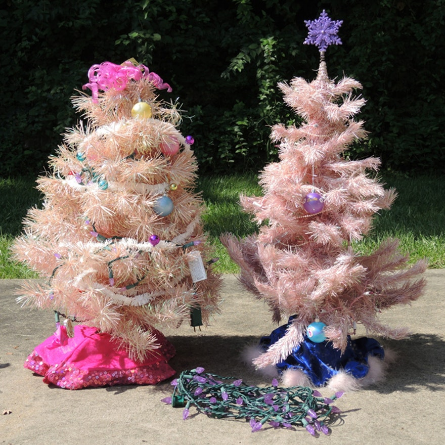 Barbie Christmas Tree Decorations.Barbie Artificial Pink Christmas Tree Set