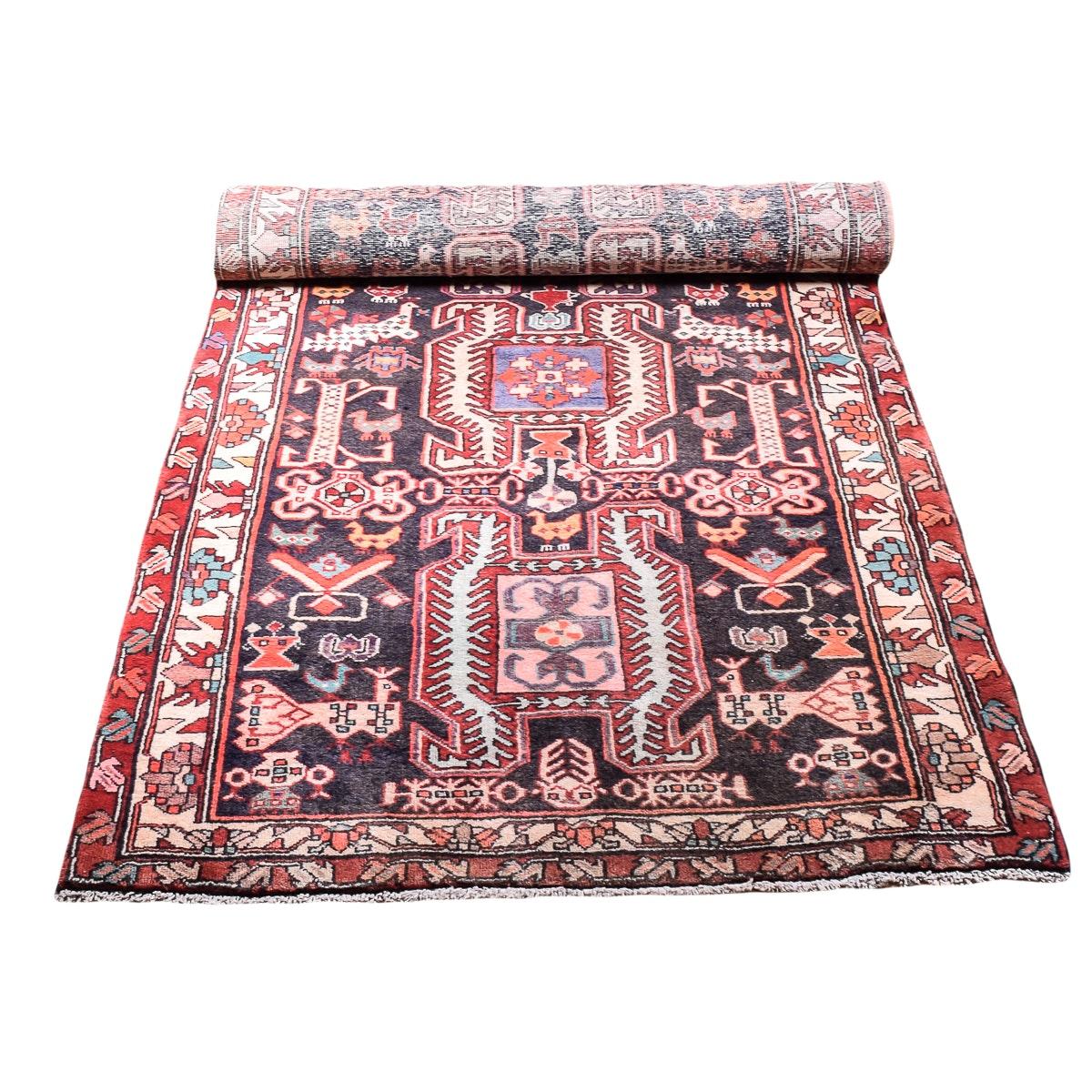 Vintage Handwoven Persian Carpet Runner
