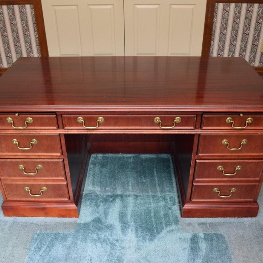 Mahogany Jasper Cabinet Company Executive Desk | EBTH