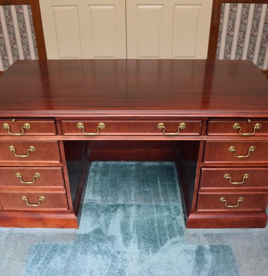 Jasper Curio Cabinet Mahogany Jasper Cabinet Company Executive Desk Ebth