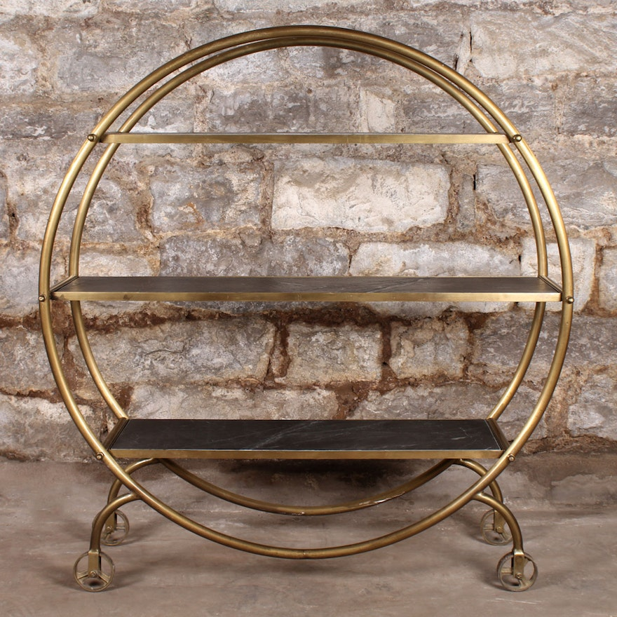 Art Deco Circular Bar Cart