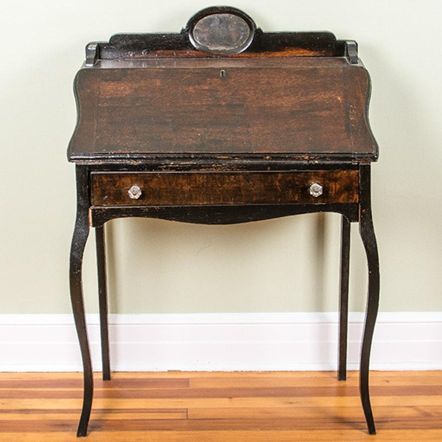 Antique Oak Ladies Writing Desk ... - Antique Oak Ladies Writing Desk : EBTH