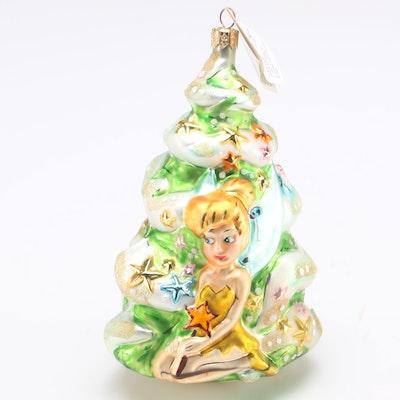 "1996 Christopher Radko Disney's ""Tinker Bell"" Blown Glass Ornament"