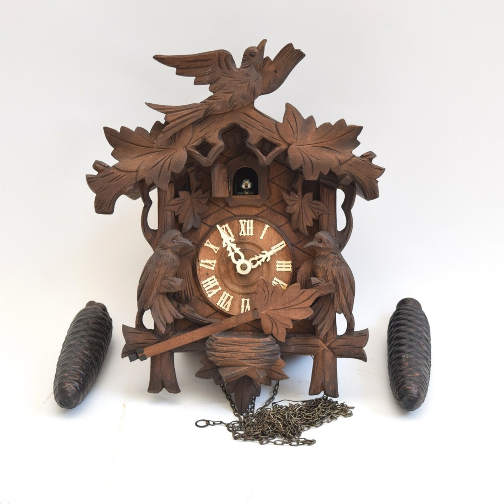 Rare Made In Germany For Sears Quot Bear Quot Cuckoo Quail Clock