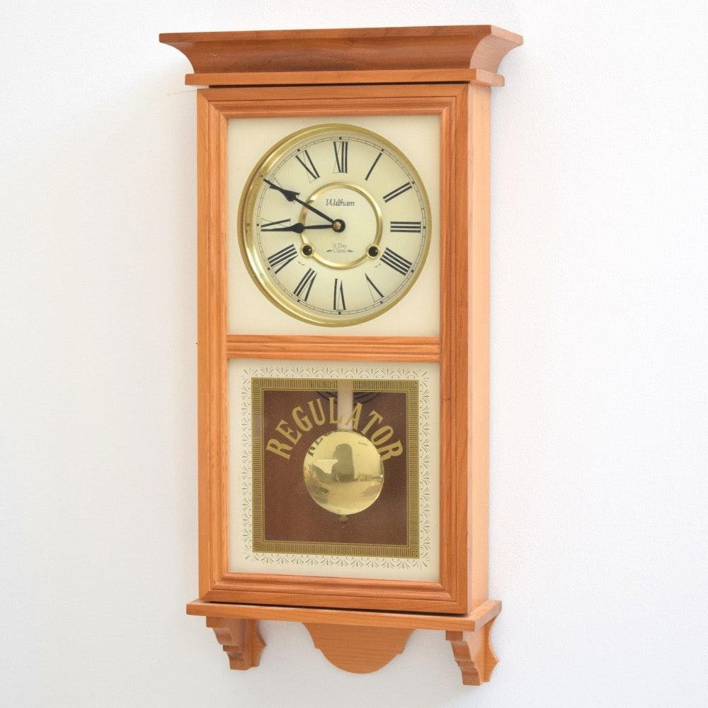 Vintage Waltham Regulator 31-Day Chime Wall Clock : EBTH