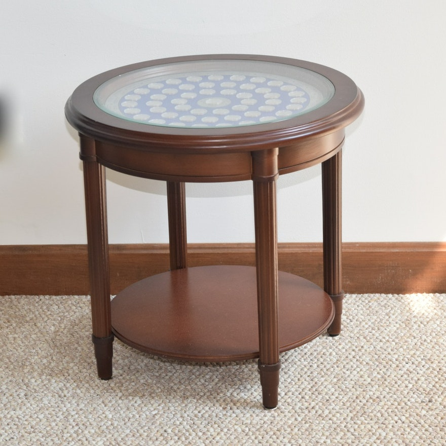 US State Quarter Shadowbox Side Table EBTH - Shadow box side table