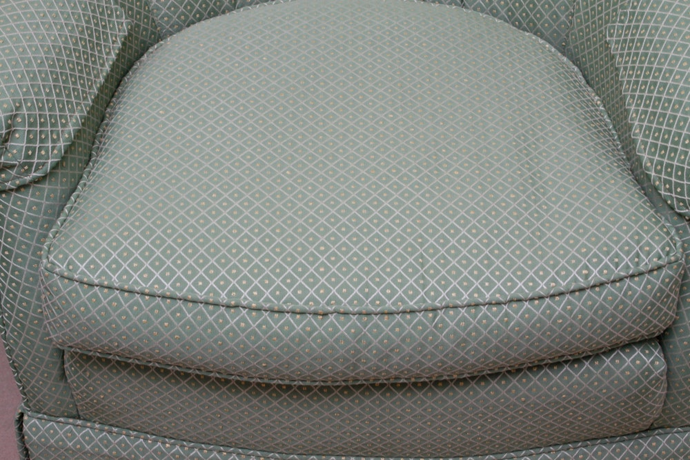 Woodmark Overstuffed Swivel Rocking Chair Ebth