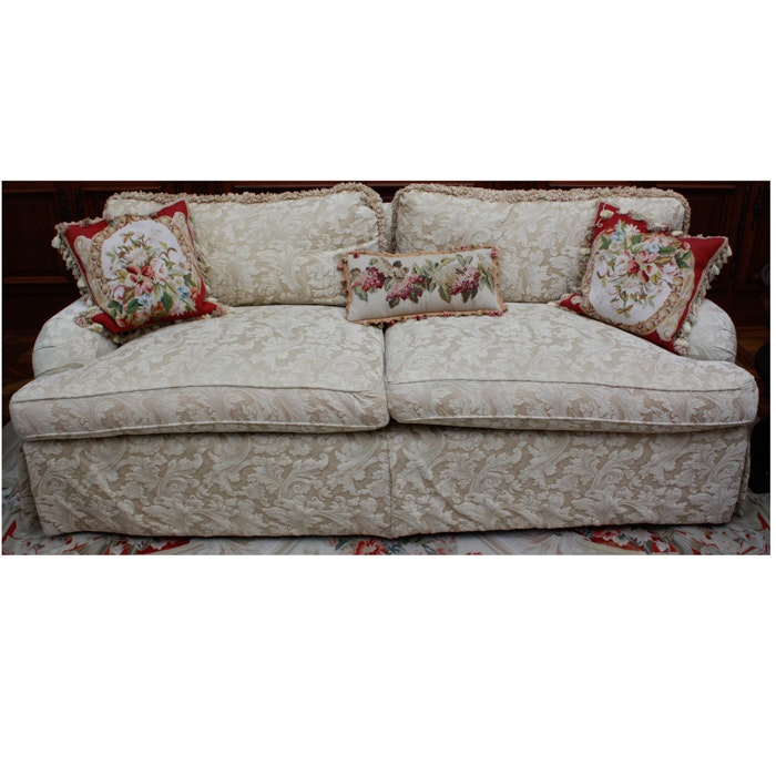 Century Sofa with Ivory Jacquard Upholstery EBTH : BethesdaDay3 908jpgixlibrb 11 from www.ebth.com size 880 x 906 jpeg 114kB