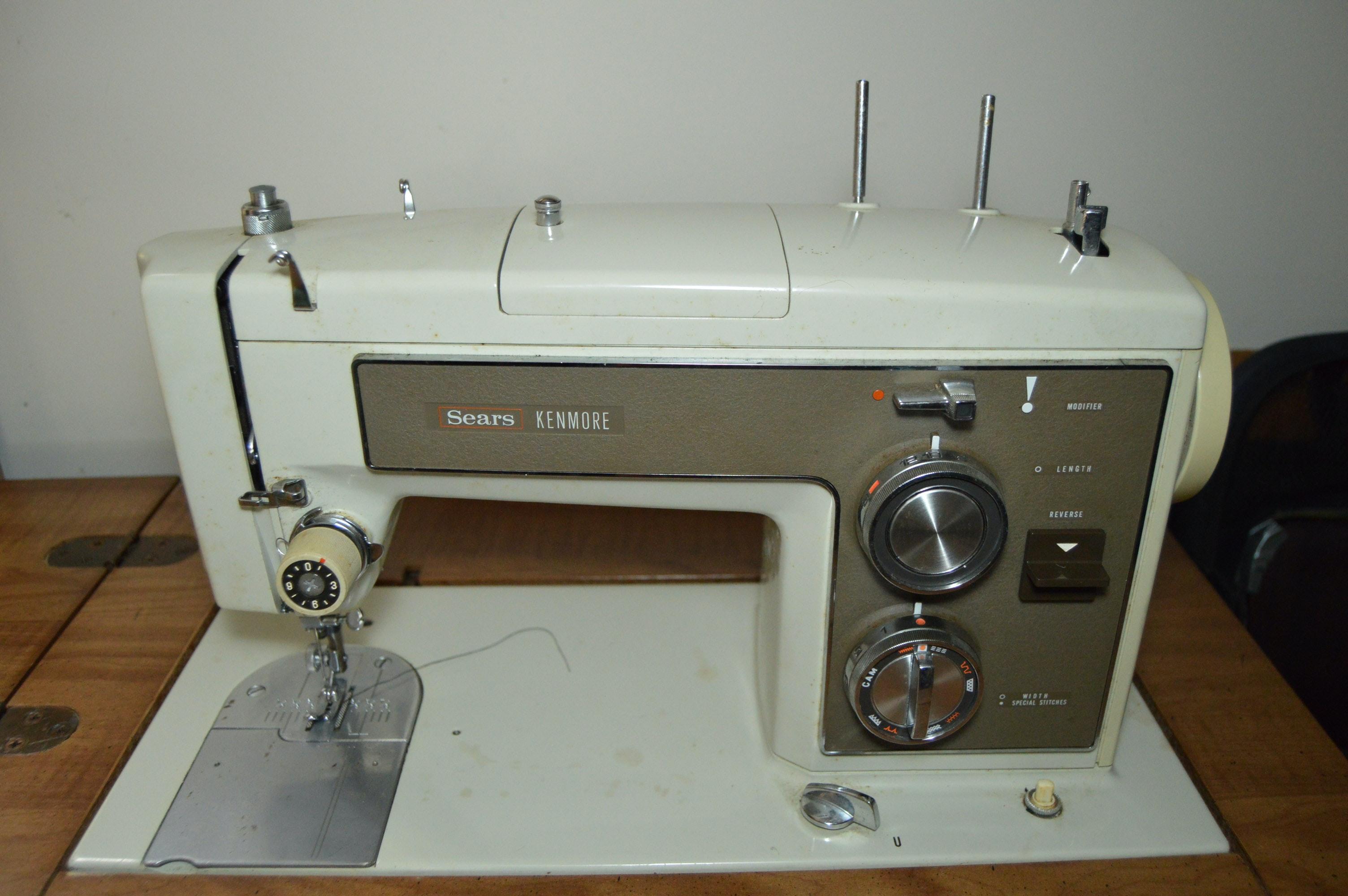 vintage kenmore sewing machine table