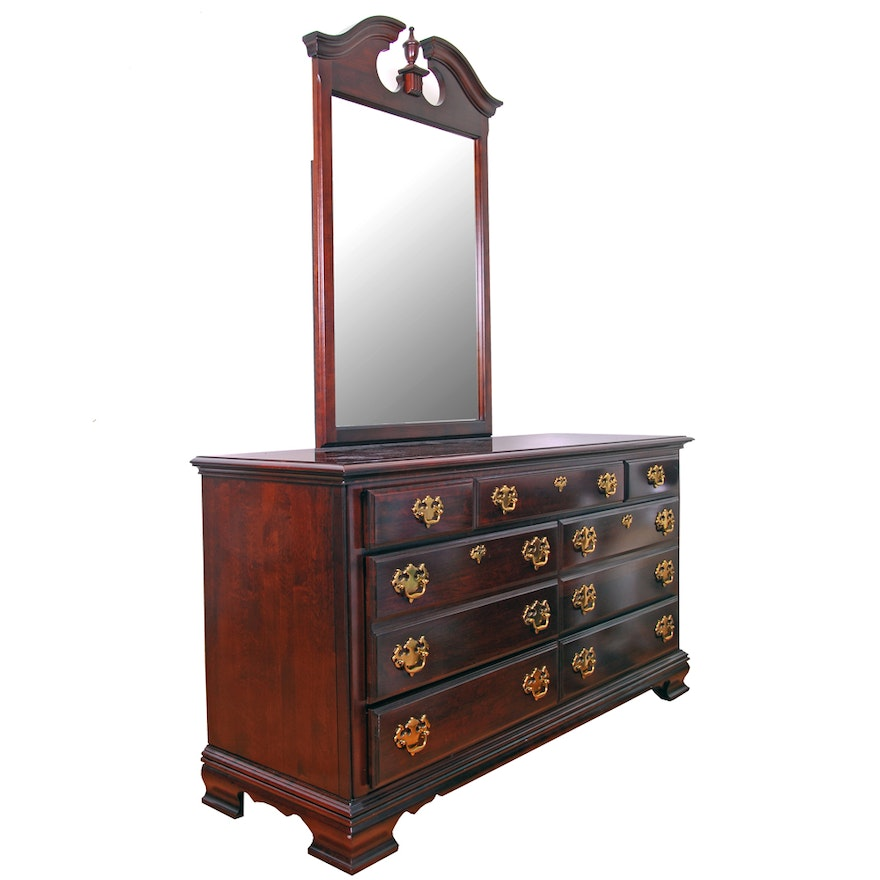 Kincaid Furniture Cherry Chest Of Drawers With Mirror