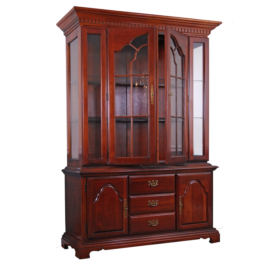 American Drew Cherry Wood China Cabinet