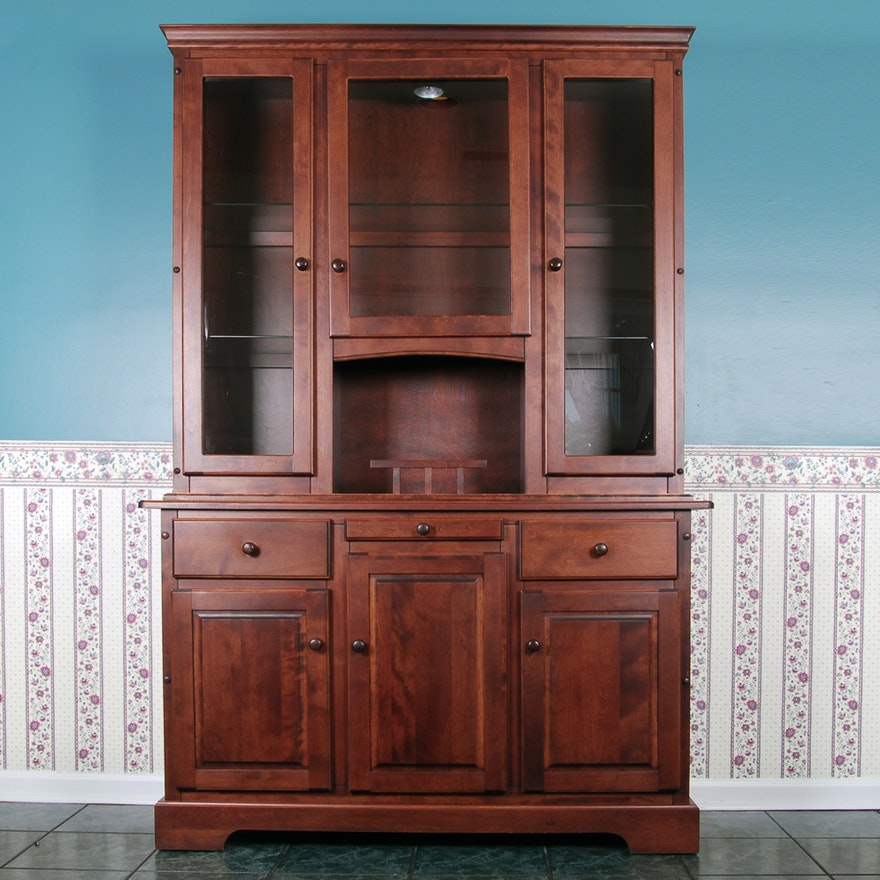 Canadel Furniture Cherry Wood Display Cabinet