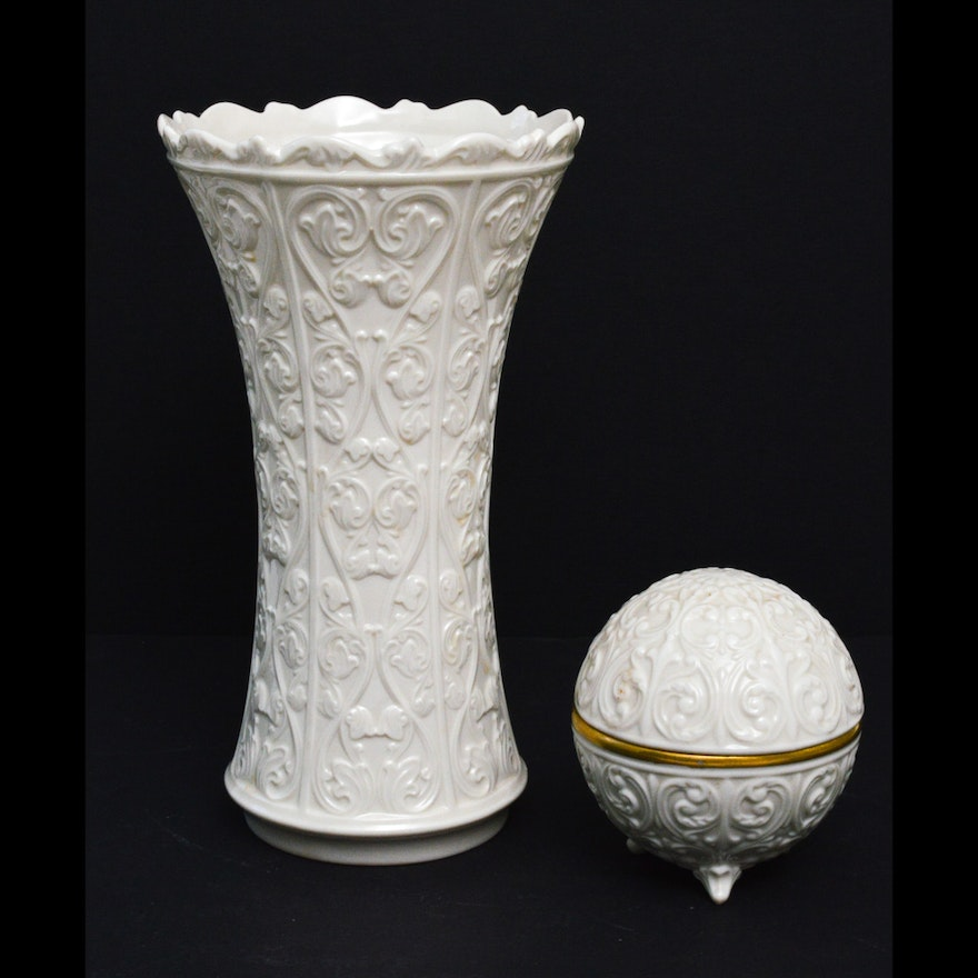 Lenox Vase And Orb In Wentworth Pattern Ebth
