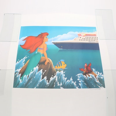 """Signed by Don Williams Little Mermaid """"Disney Magic"""" Theme"""