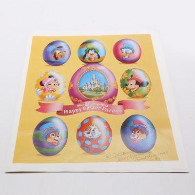 Disney World Easter Parade Program Signed by Animator Don Williams