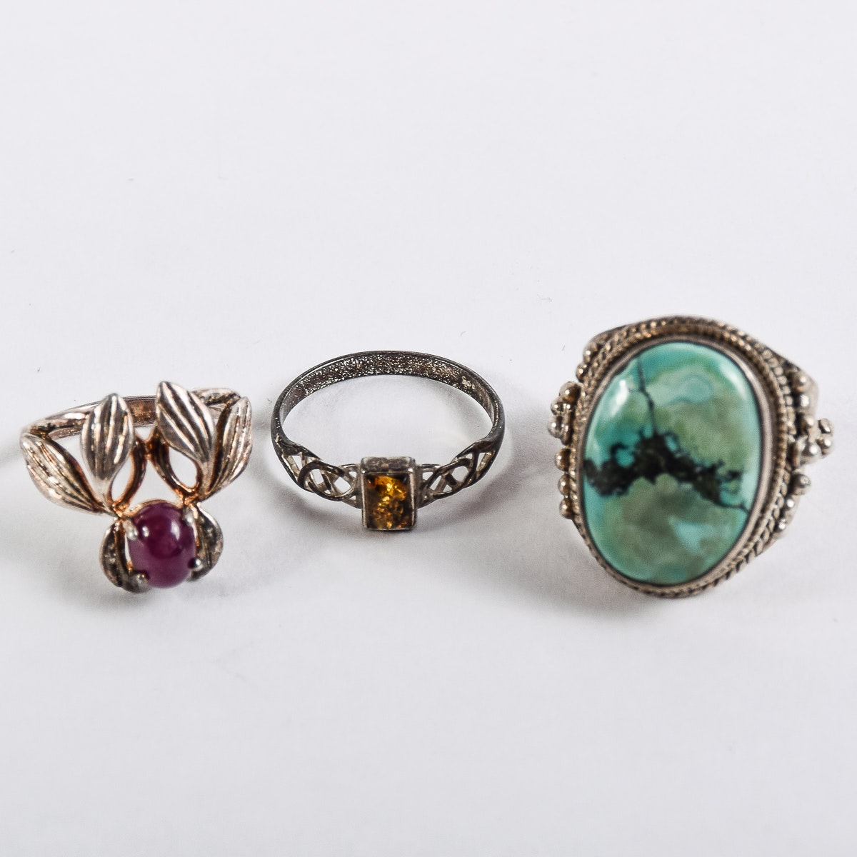 Set of Sterling Silver Rings